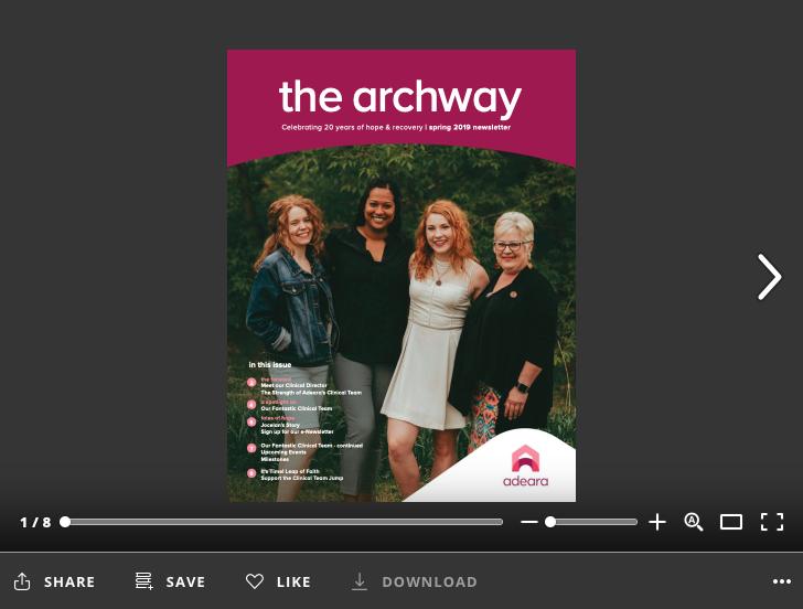 Archway Newsletter - Spring 2019